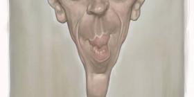 Caricatura de Damian Lewis