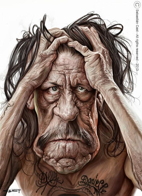 Caricatura de Danny Trejo