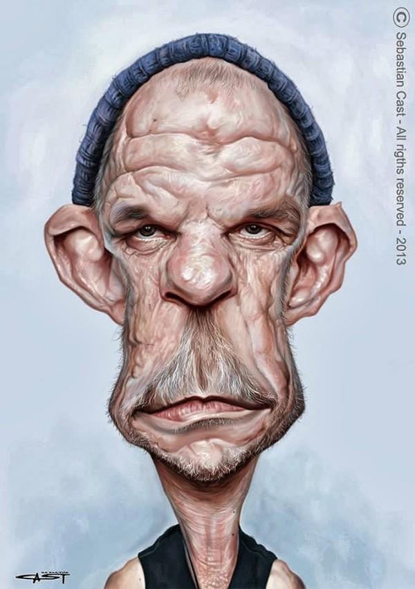 Caricatura de Denis Lavant