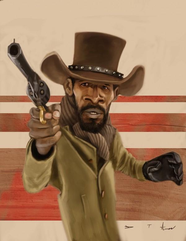 Caricatura de Django desencadenado