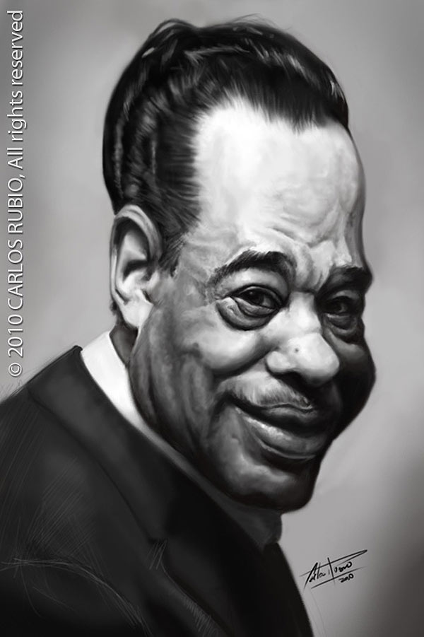 Caricatura de Duke Ellington