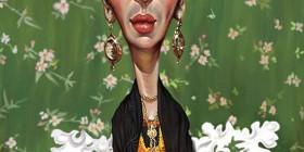 Caricatura de Frida Kahlo
