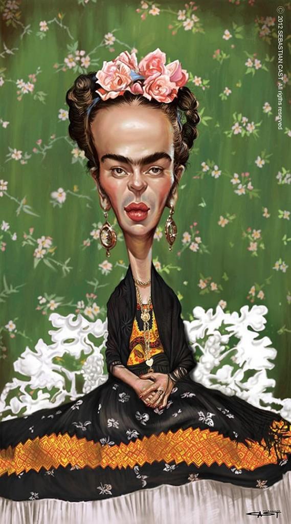 Caricatura de Frida Ka...