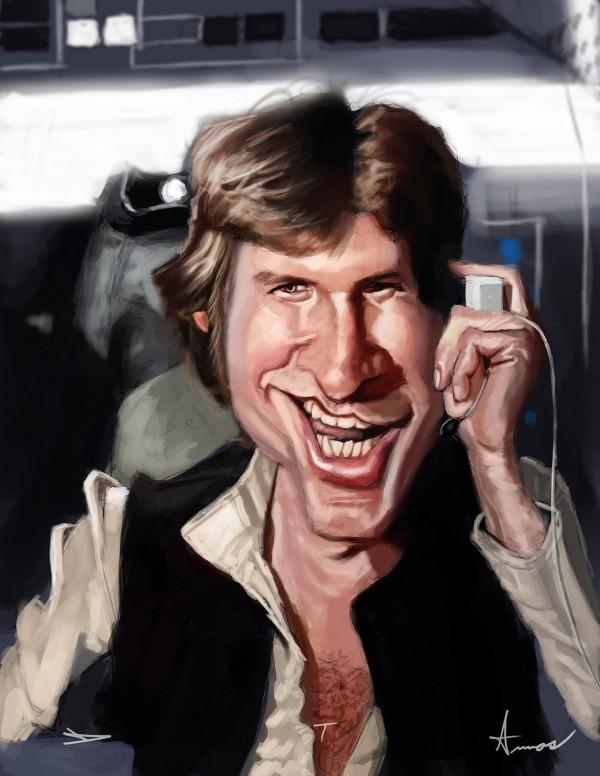 Caricatura de Han Solo