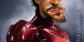 Caricatura de Iron Man (Robert Downey Jr.)