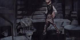 Caricatura de Jack Palance