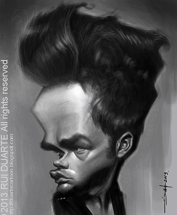 Caricatura de James Dean