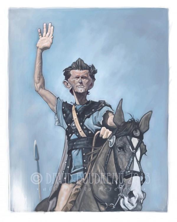 Caricatura de Kirk Douglas en Espartaco