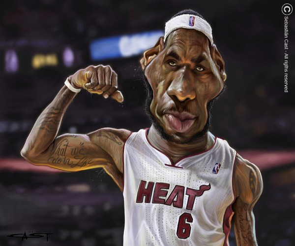 Caricatura de Lebron James