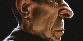 Caricatura de Leonard Nimoy de Sr. Spock de Star Trek
