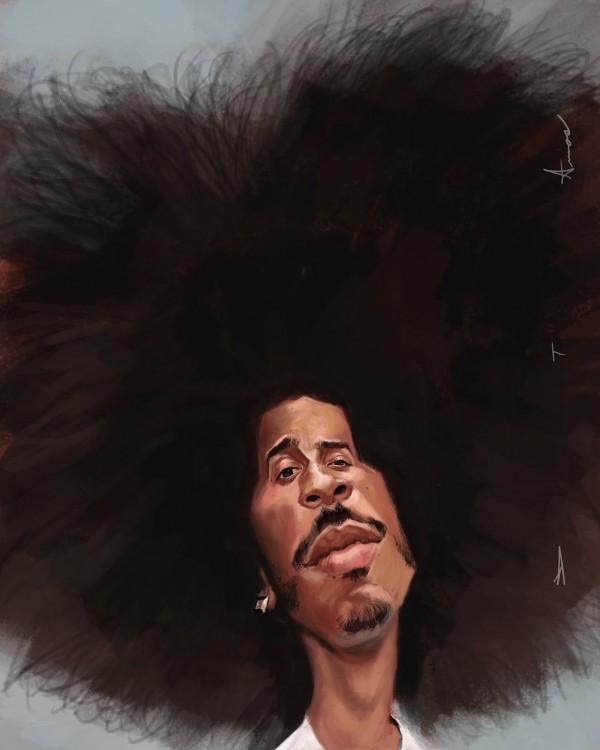 Caricatura de Ludacris
