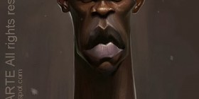 Caricatura de Mario Balotelli