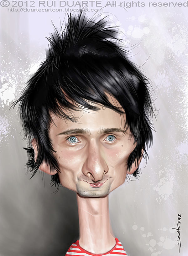 Caricatura de Matt Bellamy