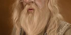 Caricatura de Michael Gambon como Albus Dumbledore