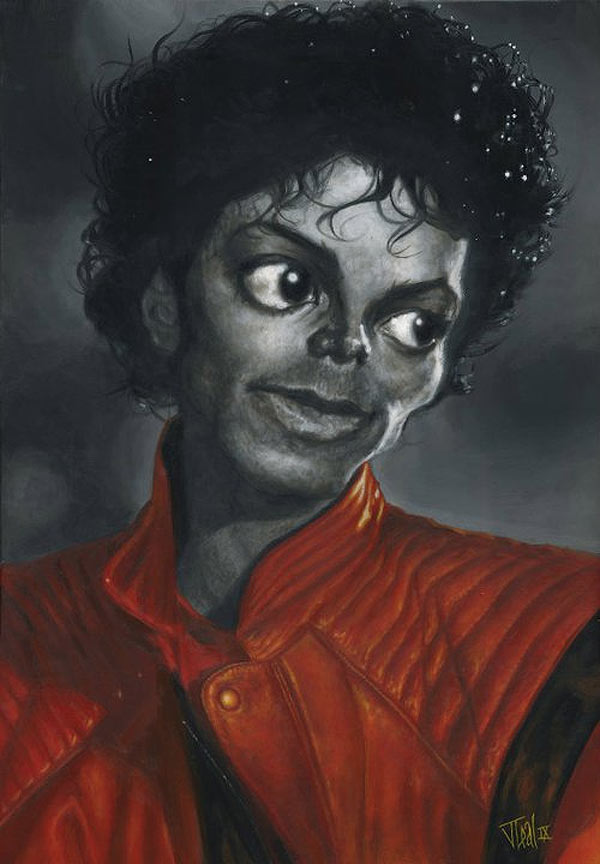 Caricatura de Michael Jackson en Thriller