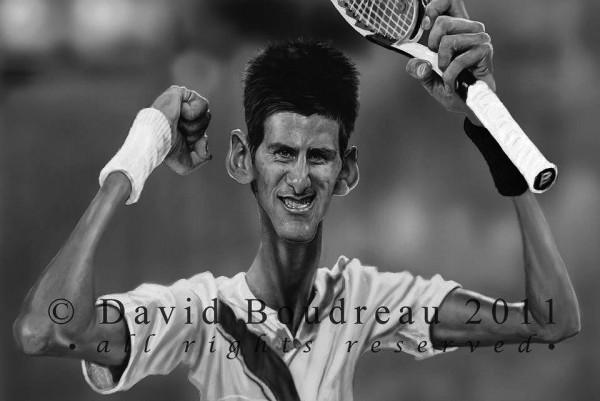 Caricatura de Novak Djokovic