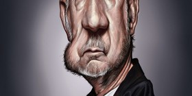 Caricatura de Pete Townshend (The Who)