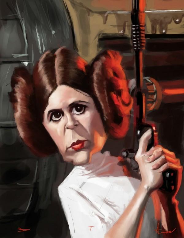 Caricatura de Princesa Leia