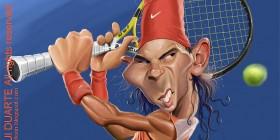 Caricatura de Rafael Nadal