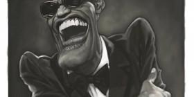 Caricatura de Ray Charles