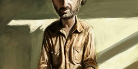Caricatura de Rick Grimes de The Walking Dead