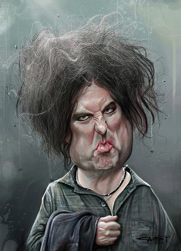 Caricatura de Robert Smith