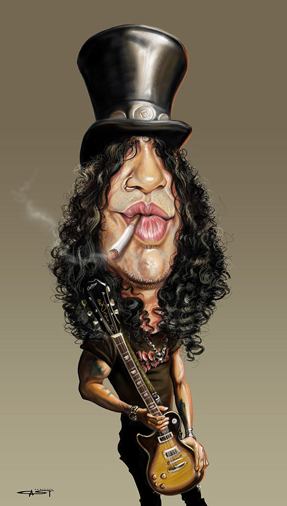 Caricatura de Slash
