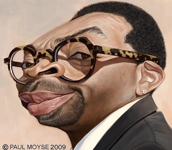 Caricatura de Spike Lee