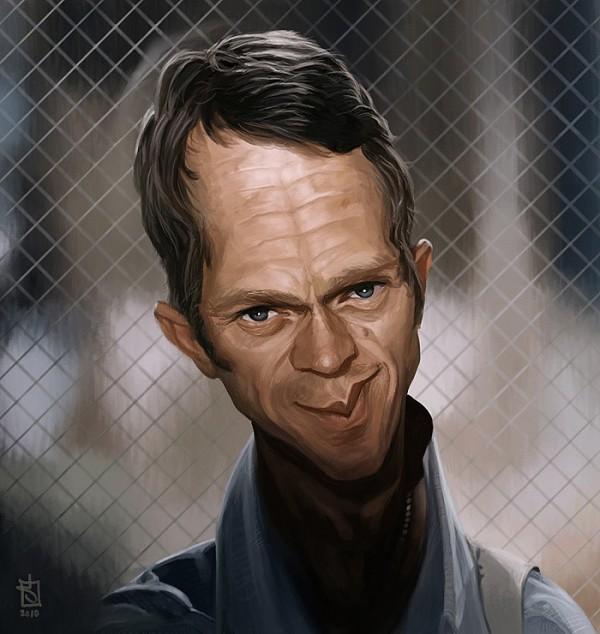 Caricatura de Steve McQueen