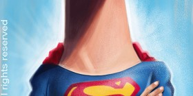 Caricatura de Superman (Christopher Reeve)