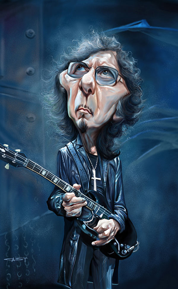 Caricatura de Tony Iommi