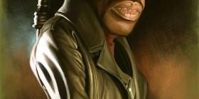 Caricatura de Wesley Snipes como Blade