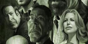 Caricatura de los protagonistas de Breaking Bad