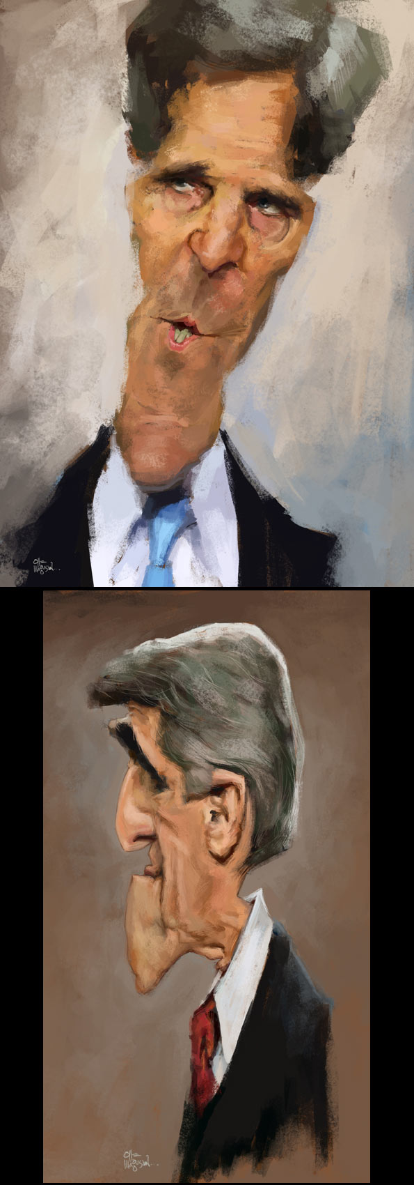 Caricaturas de John Kerry