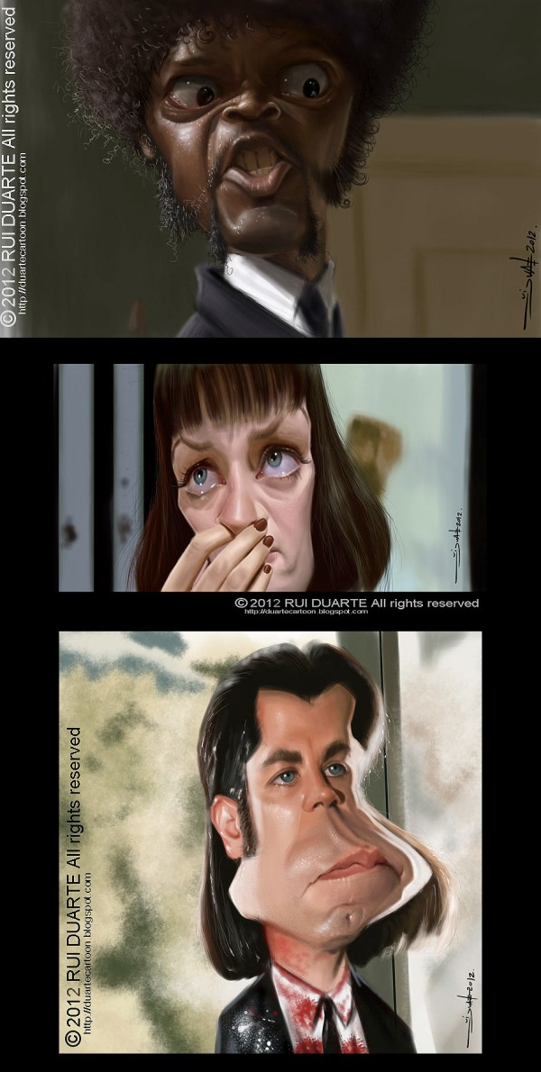 Caricaturas de Pulp Fiction