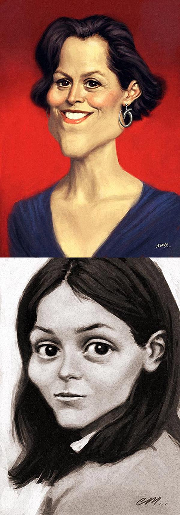 Caricaturas de Sigourney Weaver