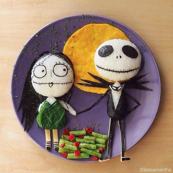 Comida divertida: Sally y Jack Skellington