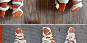 Comida divertida para Halloween: momias