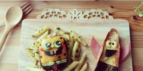 Comidas divertidas: Bob Esponja y Patricio