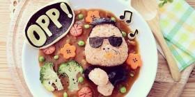 Comidas divertidas: PSY de Gangnam Style