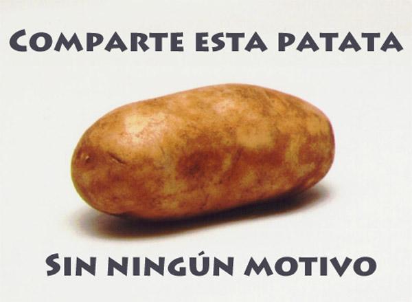 Comparte esta patata sin ningún motivo