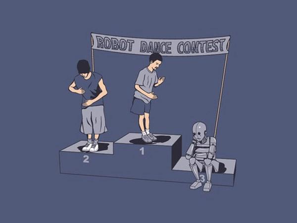 Concurso de baile de robot