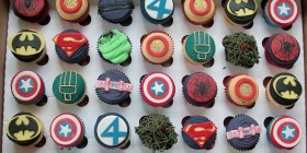 Cupcakes de Superhéroes