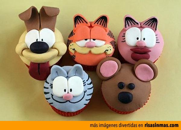 Cupcakes de los personajes de Garfield