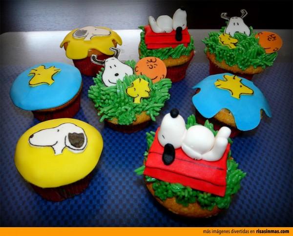 Cupcakes originales: Snoopy