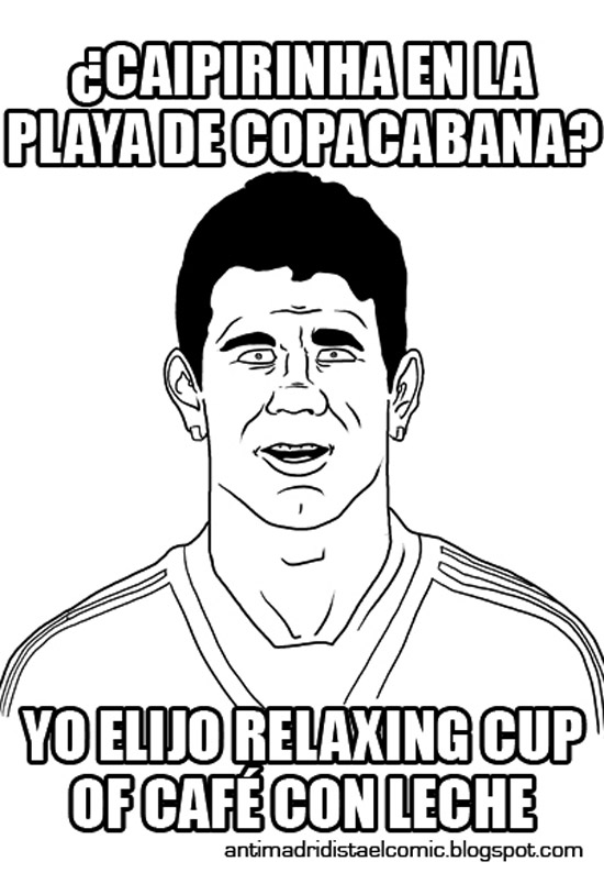 Diego Costa elige relaxing cup of café con leche