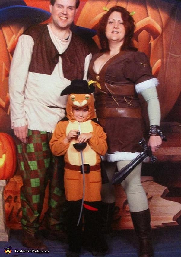 Disfraces familiares: Shrek
