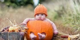 Disfraz de calabaza de bebé