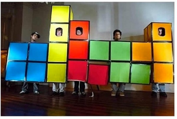 Disfraz de grupo: Tetris