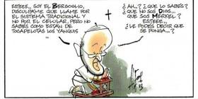 El Papa pidiendo ayuda